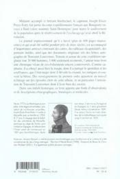 Journal Des Operations Militaires De L'Armee Francaise A Saint Domingue - 4ème de couverture - Format classique