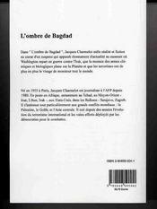 L'ombre de Bagdad - 4ème de couverture - Format classique