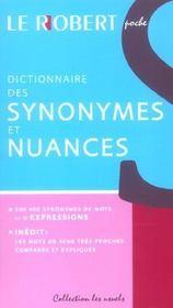 Dictionnaire Des Synonymes Et Nuances - Intérieur - Format classique
