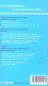 Dictionnaire Des Synonymes Et Nuances - 4ème de couverture - Format classique