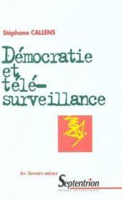 Democratie Et Telesurveillance - Couverture - Format classique