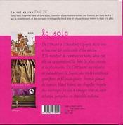 La soie - 4ème de couverture - Format classique