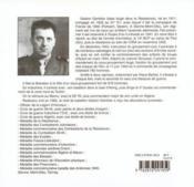 Journal de route du maquis de l'Ain - 4ème de couverture - Format classique