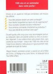 Le petit livre du vin 2000 - 4ème de couverture - Format classique