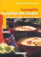 Connaître la cuisine des soupes - Intérieur - Format classique