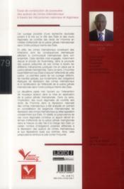 Essai de construction de poursuites des auteurs de crimes internationaux à travers les mécanismes nationaux et régionaux - 4ème de couverture - Format classique