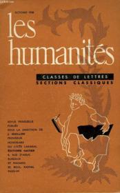 Les Humanites - Classe De Lettres - Octobre 1958 - Couverture - Format classique