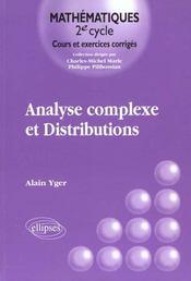 Analyse Complexe Et Distributions - Intérieur - Format classique