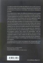 Par-Dela Les Nanosciences Et Les Nanotechnologies - 4ème de couverture - Format classique