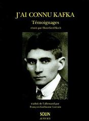 J'ai connu Kafka - Couverture - Format classique
