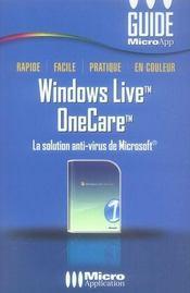 Windows live onecare - Intérieur - Format classique