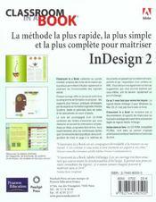 Indesign 2 - 4ème de couverture - Format classique