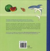 Mon Premier Grand Dictionnaire (4-7 A.) - 4ème de couverture - Format classique