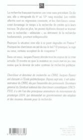 La Recherche Francaise Va Tres Bien ; Et Pourquoi Nos Chercheurs S'Exilent-Ils Aux Etats-Unis ? - 4ème de couverture - Format classique