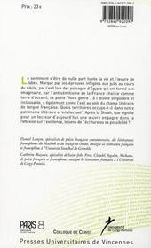Edmond Jabes : l'éclosion des énigmes - 4ème de couverture - Format classique