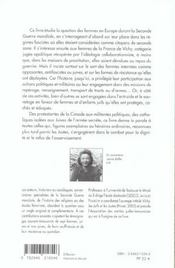Les Femmes Dans Les Annees Quarante Juives Et Non Juives, Souffrances Et Resist - 4ème de couverture - Format classique