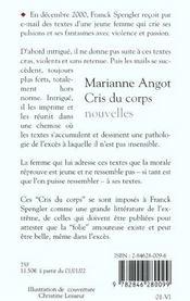 Cris Du Corps - 4ème de couverture - Format classique