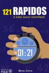 121 rapidos et autre énigmes mathématiques - Intérieur - Format classique