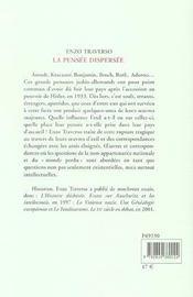La Pensee Dispersee - 4ème de couverture - Format classique