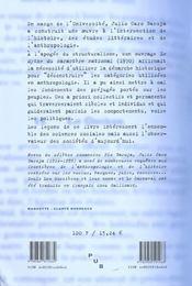 Le Mythe Du Caractere National. Meditations A Rebrousse-Poil - 4ème de couverture - Format classique
