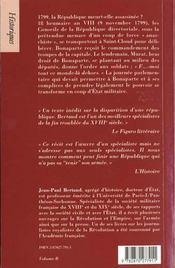 1799, bonaparte prend le pouvoir - 4ème de couverture - Format classique