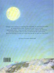 Marchand De Sable Et La Lune - 4ème de couverture - Format classique