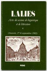 Revue Lalies N.4 - Couverture - Format classique