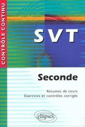 Controle Continu ; Svt ; 2nde - Intérieur - Format classique