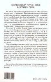 Regards Sur La Fictions Breve De Cynthia Ozick - 4ème de couverture - Format classique