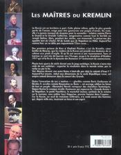 Les Maitres Du Kremlin - 4ème de couverture - Format classique