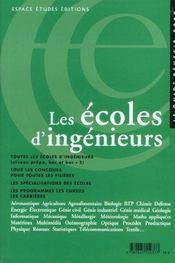 Les Ecoles D'Ingenieurs ; Edition 2002 - Intérieur - Format classique