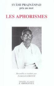 Aphorismes (Les) - Intérieur - Format classique