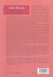 Alain Resnais, liaisons secrètes, accords vagabonds - 4ème de couverture - Format classique