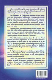 Messagers De L'Aube - 4ème de couverture - Format classique