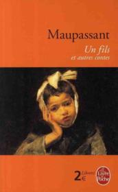 Un fils ; et autres contes - Couverture - Format classique
