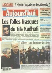 Aujourd'Hui En France N°1163 du 04/02/2005 - Couverture - Format classique
