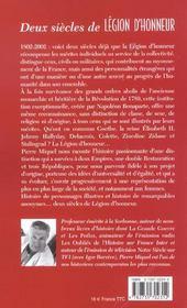 Deux Siecles De Legion D'Honneur - 4ème de couverture - Format classique