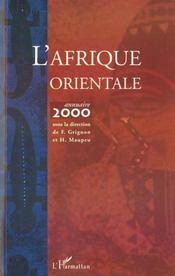 L'Afrique Orientale ; Annuaire 2000 - Intérieur - Format classique