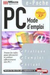 Pc Mode D'Emploi - Intérieur - Format classique