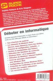 Débuter en informatique - 4ème de couverture - Format classique