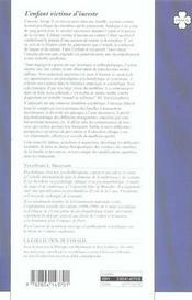 Enfant Victime D'Inceste (L') - 4ème de couverture - Format classique