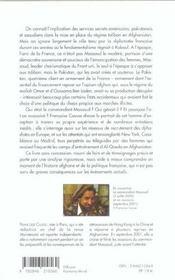Quand La France Preferait Les Taliban Massoud In Memoriam - 4ème de couverture - Format classique