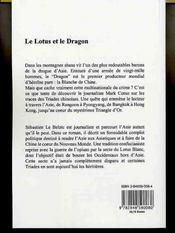 Le lotus et le dragon - 4ème de couverture - Format classique