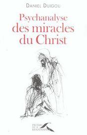 Psychanalyse des miracles du Christ - Intérieur - Format classique