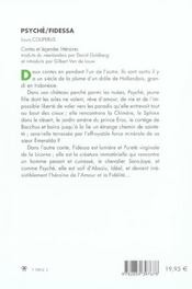 Psyche Fidessa - 4ème de couverture - Format classique