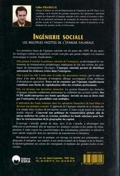 Ingenierie sociale ; les multiples facettes de l'epargne sociale - 4ème de couverture - Format classique