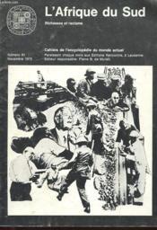 Cahiers De L'Encyclopedie Du Monde Actuel - L'Afrique Du Sud - Richesses Et Racisme N° 61 - Novembre 1970 - Couverture - Format classique
