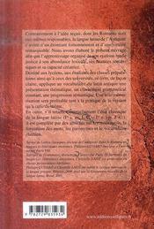 Lexique nouveau de la langue latine presentation, phraséologie et expression formation du lexique - 4ème de couverture - Format classique