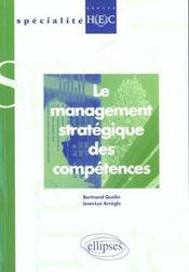 Le Management Strategique Des Competences - Intérieur - Format classique