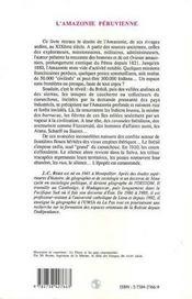 L'Amazonie Peruvienne ; Un Eldorado Devore Par La Foret, 1821-1910 - 4ème de couverture - Format classique